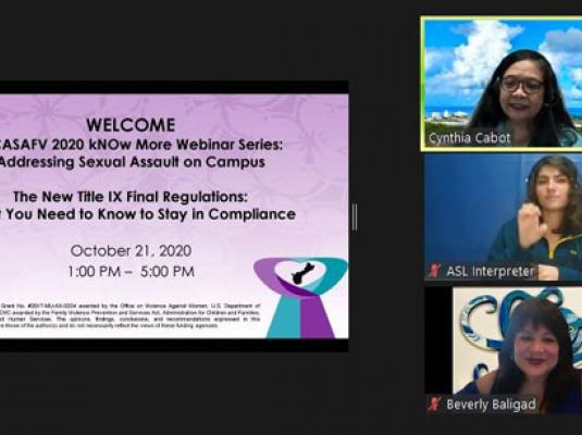 2020 kNOw More Webinar: The New Title IX Final Regs - Oct. 21, 22, 28, & 29, 2020