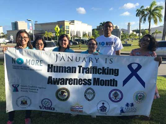 2018 Jan. Human Trafficking Awareness/Stalking Awareness Wave